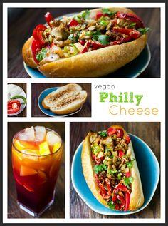 Vegan Philly Cheese Sandwich