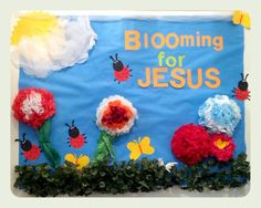 Spring Bulletin Board for the church.   created by Jesus  I