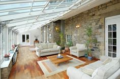 OMG love that glass roof, wonder if I can add this to my home?