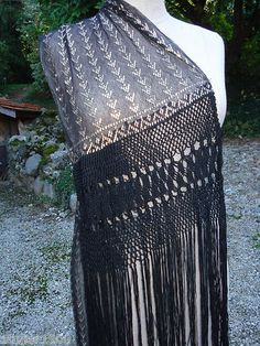 Antique Vintage Art Deco Egyptian Flapper Azute Assuit Stole Belt Shawl | eBay $177.50