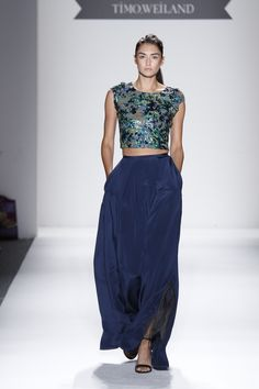 Swarovski Elements Crystals are always a fashion statement with full skirts at Timo SS13, photography by Dan Lecca