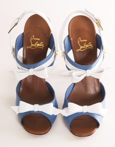 What perfect wedding shoes -- complete with something blue! // Christian Louboutin