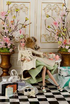 Barbie style dolls...