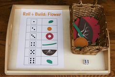 Roll and Build a Flower Activity by Deb Chitwood, via Flickr