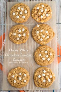 Chewy White Chocolate Pumpkin Cookies | from Chocolate and Carrots | Could a pumpkin cookie get any better? Yep ... just add white chocolate! Yum!