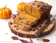Maple Pecan Streusel Pumpkin Bread.