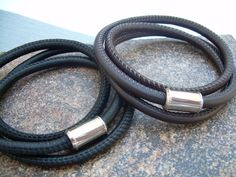 Triple Wrap Stitched Nappa Leather by UrbanSurvivalGearUSA on Etsy, $27.99
