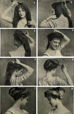 Glad to see that incomprehensible hairstyle instructions have been around a solid 100 years before Pinterest. #edwardianconfusion