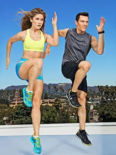 The P90X-Express Workout. 14 day routine only 20-30min a day. Has videos.