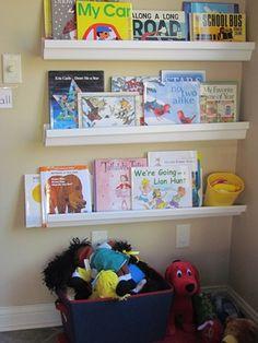 Using Gutters as Bookshelves