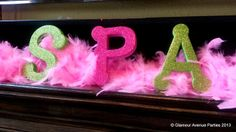 Decoration at a Pink and Green Spa Party #spa #partydecor