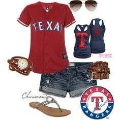 Don't hate me Cardinals but a boy is taking me to a Rangers game and I need something cute to wear!!!
