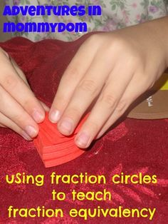 hand, math lesson, fraction lesson, fraction circl