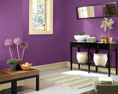 Try the Sherwin-Williams Color Visualizer to imagine what colors will look like. Use a photo of your own home, or try one of ours. Here we tried Kimono Violet (SW 6839) in a living room setting.