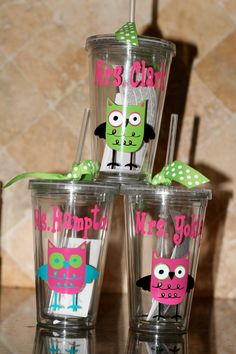 Personalized custom acrylic cups