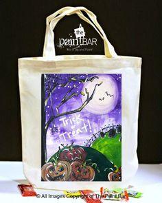 Spooky Pumpkins Trick or Treat Bag - Jackie Schon, The Paint Bar