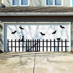 Bat-and-Cat Garage Door Design