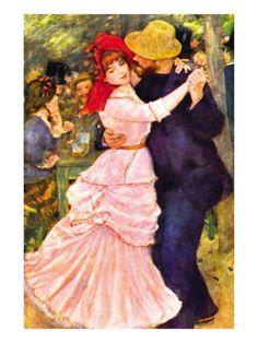 Dance In Bougival by Pierre-Auguste Renoir