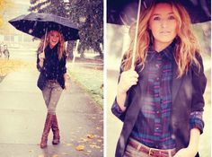 Cute get up for a rainy day. #fashion #style