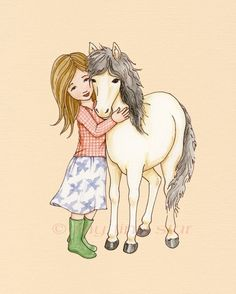 Cream Colored Ponies 5x7 print by mytinystar on Etsy, $10.00