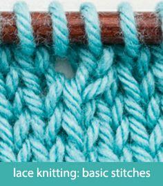 Basic Hand Knitting Stitches : Easy Knitting/Crochet on Pinterest Knitting, Knitting Tutorials and Yarns