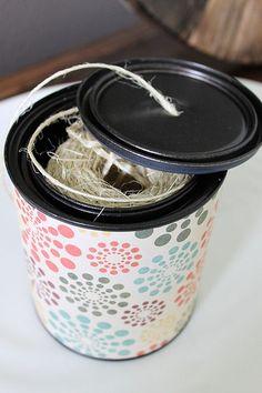 awesome way to store ribbon/yarn/twine