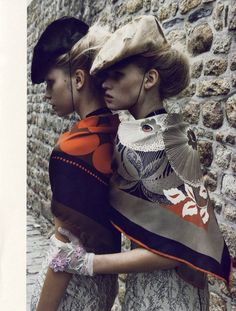 fashion, vogue paris, lara stone, vogu pari, alin weber, stones, scarv, patrick demarchelier, hat