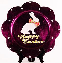 easter charger plate idea