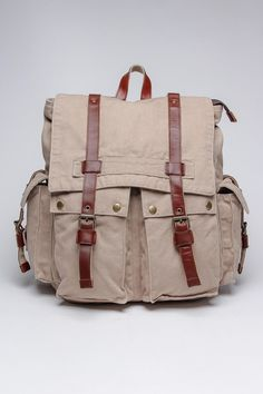 Washed Canvas Backpack / by J. Campbell
