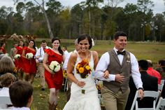 """So happy after saying """"I do!"""" Photo by Captured By Colson."""