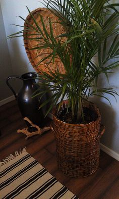 Rental ReStyle in the bedroom: THRIFT BASKET DECOR by NYCLQ, via Flickr
