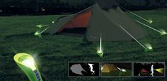 Camping stake lights (Awesome so you won't trip over them at nite!)