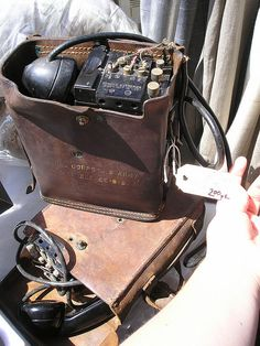 Super cool Army field phone #vintage #military #technology #treasurehunting