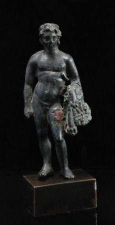 Bronze Statuette of A Young Herakles  Roman Empire, c. 2nd century AD