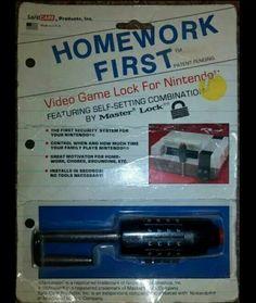 NES lock. Thanks Mom & Dad
