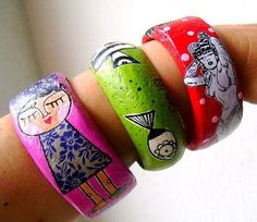 pulseras papel mache