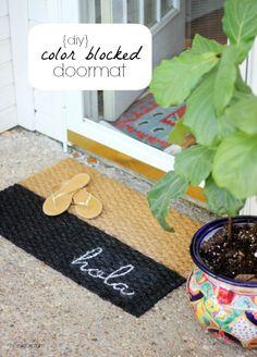 Hi Sugarplum | Colorblocked Doormat