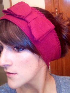 DIY ear warmer. Tutorial used linked :)