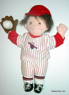 Cloth Doll PDF Pattern Little Homer 18 Baseball by PeekabooPorch