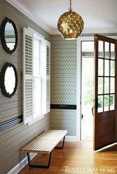 that light...that wallpaper....that door