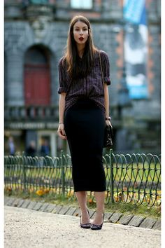 Maxi pencil skirt~