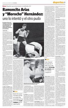 En 1958 Ramón Arias se convirtió en el primer venezolano en competir por un título mundial de Boxeo. En 1965 el Morocho Hernández obtuvo el título. Publicado el 20 de noviembre de 2008.