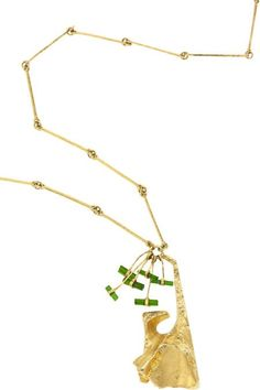 Björn Weckström for Lapponia Jewelry ~Tourmaline, Gold #Necklace. | Liveauctioneers.com