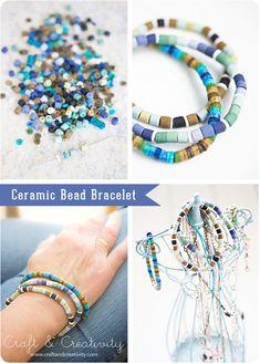 Ceramic Bead Bracelet - from Craft & Creativity