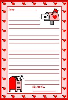 "FREE:  Download this free Valentine's Day letter writing worksheet and a matching 5 page bulletin board display banner.   This free download is only available from Feb. 1 - Feb. 14, 2013 from Unique Teaching Resources' February newsletter ""Teachers Have Class!"""