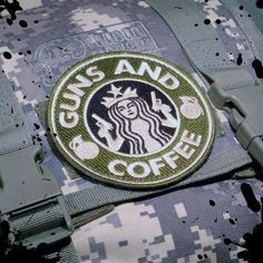 Tactical Guns and Coffee Velcro Morale Military by TacticalTextile, $4.45