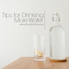 The Freckled Fox : Tips for Drinking More Water | How I Drink a Gallon+ Every Day