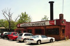 Harold's BBQ - Since 1947  so sad they closed in 2012! They had the best Brunwick stew/cornbread!