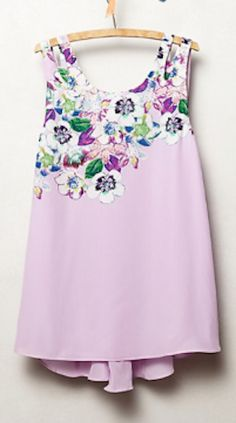 sweet floral detailed #lavender tank http://rstyle.me/n/mts89r9te