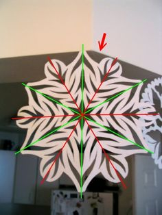Paper Snowflakes: how to make a pattern